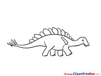 Stegosaurus Clip Art download for free