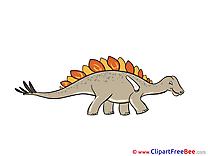 Stegosaurus Dinosaur Clipart free Illustrations