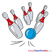 Bowling Pins Ball free Cliparts for download