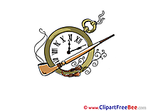 Clock Pipe Cliparts printable for free