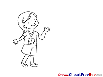 Girl Coloring Clipart free Illustrations