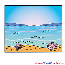 Sea Beach Clipart free Illustrations