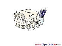 Towels free printable Cliparts and Images