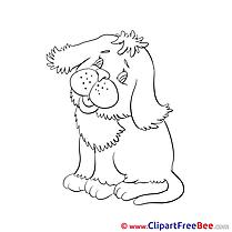 Coloring Clip Art download Dog
