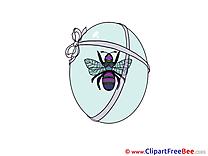 Blue Egg Clipart Easter Illustrations