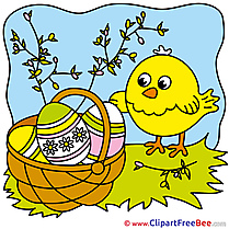 Branches Chicken Pics Easter Illustration