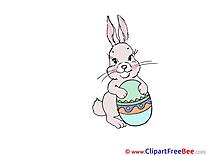 Bunny Easter Egg Clip Art for free