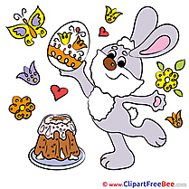 Butterfly Cake printable Illustrations Easter