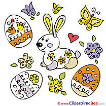 Butterlfy Eggs Clip Art download Easter