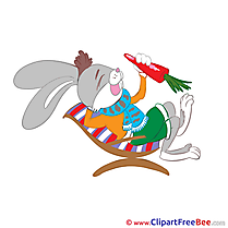 Carrot Rabbit Pics Easter free Cliparts