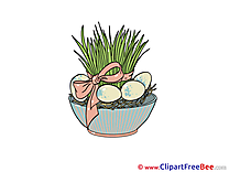 Grass in Pot Easter download Illustration
