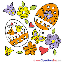 Holiday Eggs Clipart Easter Illustrations