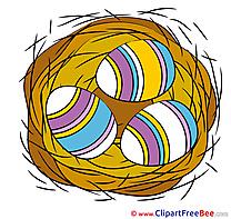 Nest Eggs printable Illustrations Easter