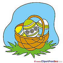 Sky Basket with Eggs download Clipart Easter Cliparts