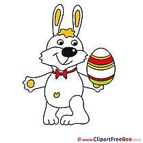 White Rabbit Egg printable Easter Images