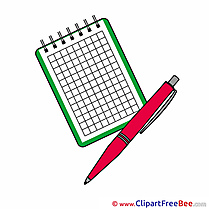 Pen Notebook Cliparts School for free
