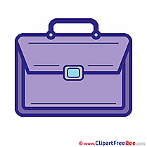 Purple Satchel Cliparts School for free