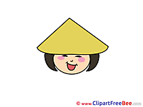 Chinese Girl download Emotions Illustrations