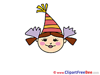 Clown Girl printable Emotions Images
