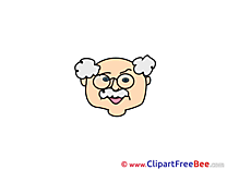 Old Man Cliparts Emotions for free