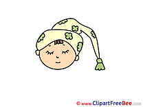 Sleeping Emotions Clip Art for free
