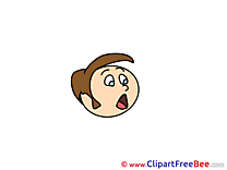 Surprised Boy Emotions download Illustration