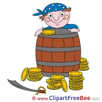 Boy Pirate Barrel Gold Pics Fairy Tale free Image