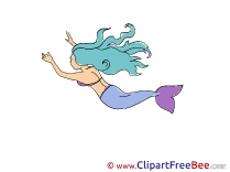 Little Mermaid Fairy Tale Clip Art for free