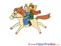 Riding Horse Prince Princess printable Fairy Tale Images