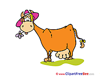 Flower Cow free printable Cliparts and Images