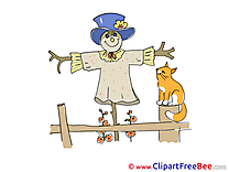 Scarecrow Cat download printable Illustrations