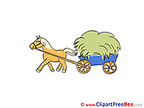 Wagon Hay Horse printable Images for download