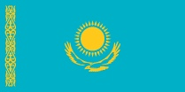 Kazakhstan flag gratis image - Flags of the World gratis