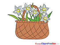 Basket with Flowers Cliparts Flowers for free