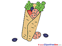 Gyros Clipart free Illustrations