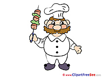 Printable Cook Illustrations for free