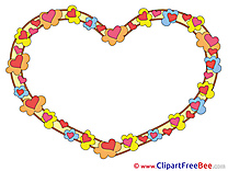 Little Hearts Clipart Frames free Images
