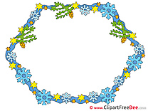 Snowflakes Clip Art download Frames