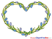 Yellow Heart Frames Clip Art for free