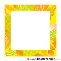 Yellow printable Frames Images