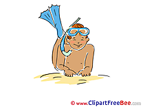 Boy Diver Clip Art download Vacation