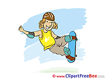 Skate Clipart Vacation Illustrations