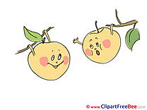 Falling Apples printable Images for download