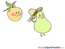 Pear Peach Hat Clip Art download for free