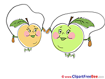 Skipping Rope Apples Clipart free Image download