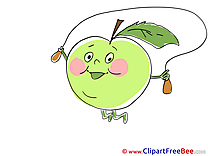 Skipping Rope Fruit Apple printable Images for download