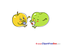 Tea Cups Fruits Clipart free Illustrations