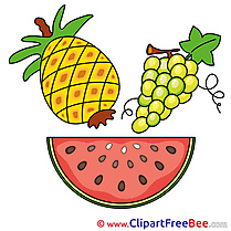 Watermelon Grape Ananas Clip Art download for free
