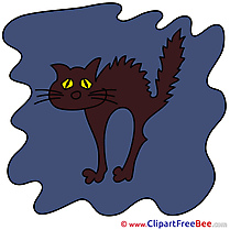 Black Cat Clipart Halloween free Images