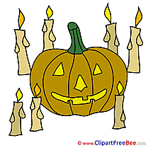 Candles Pumpkin free Illustration Halloween